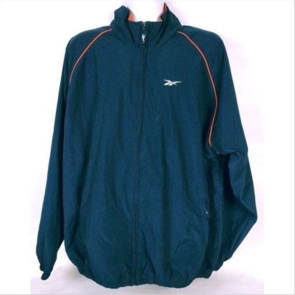 c7f469db1462b Vintage 90s Reebok Men's Windbreaker XL Zip Up